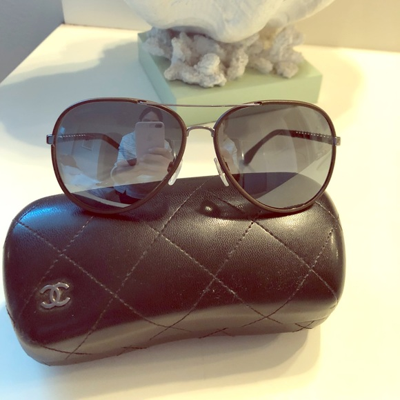 15c688be5dcc CHANEL Accessories - Chanel aviator mirrored sunglasses